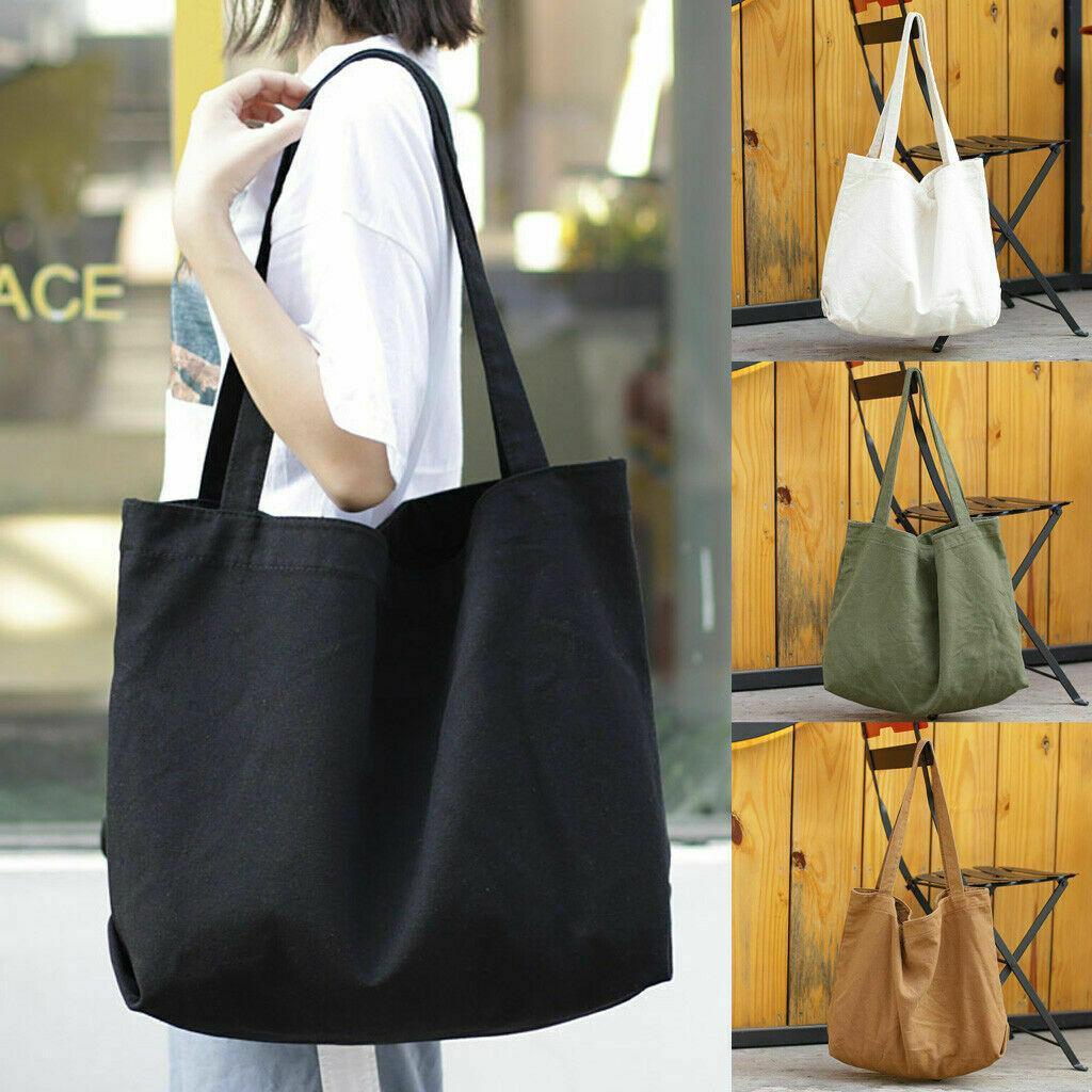 Lona de las mujeres bolso de compras grande Playa de hombro del bolso grande bolsas de mano Bolso de compras del comprador taleguilla T200406