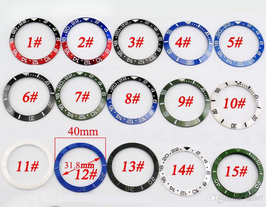 P349 Красный Черный Синий Зеленый керамический / Titanium ободок Fit GMT автоматические часы Розничная и оптовая поддержка