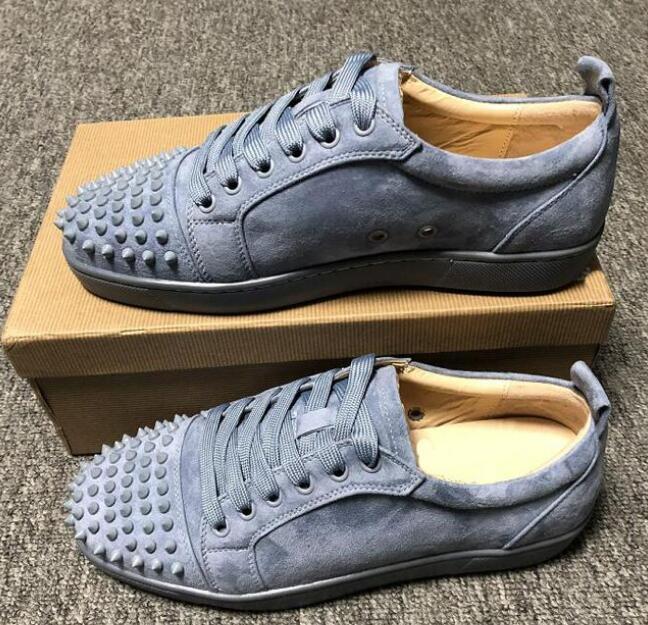 Vente en gros - bas en haut rouge baskets bas pour les hommes luxe cuir noir hommes de mode casual chaussures chaussures womens causales design gros