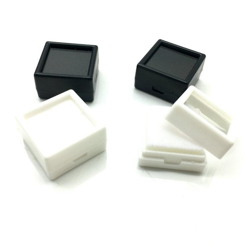 35pcs / Lot 30 * 30mm quadratischen Ring Ohrringe Anhänger Display-Kasten-Speicher-Boxs Schmuck Accessoires Weihnachtsgeschenke Z-200