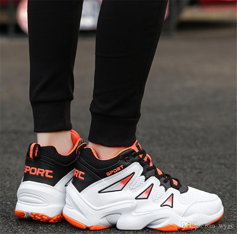 أحذية حار بيع الرجال رخيصة في أعلى مستوى أعلى الأحذية الرجالية عارضة الرجال والنساء الرياضة الهيب هوب الاتجاه الكورية أحذية كرة السلة للتنفس