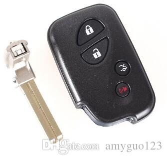 Replacement Shell 4 Buttons Smart Remote Key Fob Case For Lexus GS430 ES350 GS350 LX570 IS350 RX350 IS250 + Blank Key