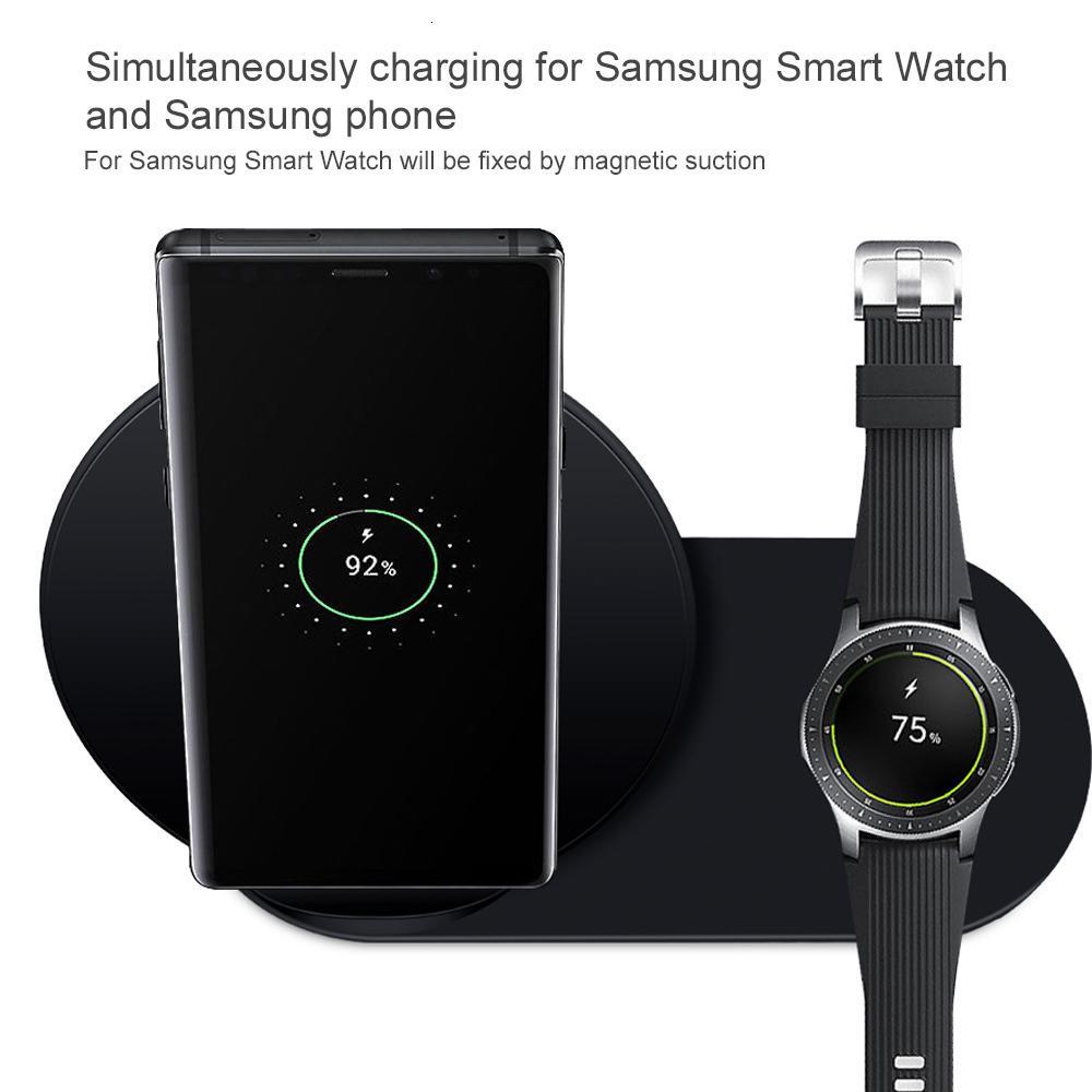 Qualità Qi alta caricatore rapido senza fili 2 in 1 per Samsung Galaxy S9 S8 S10 nota 10 è 98 velocemente il carico per il caricatore Samsung marcia S3 S4