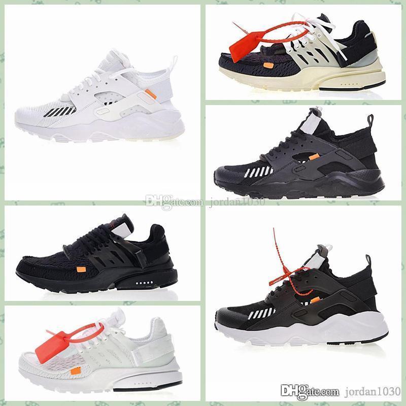 Nike Off Huarache 2020 Hot Off-W Além disso Presto Mulheres Homens Branco Preto Huarache Luxury Designer Sneakers Outdoor Sports Outdoor Caminhando sapatas 36-45