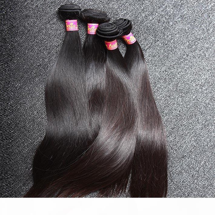 100% chinois non transformé Cheveux Trame 3Bundles Naturel Couleur Silky Droit humain Extensions cheveux Livraison gratuite
