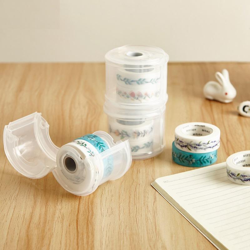 Kawaii Simpatico nastro adesivo per mascheratura Washi Dispenser per nastro Organizzatore per taglierini per ufficio scolastico Forniture per ufficio FAI DA TE sl1830