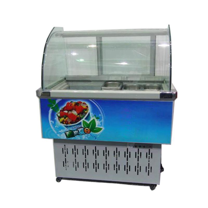 Горячая продажа Италия шкаф мороженого жесткий дисплей морозильник чехол витрина мороженого дисплей мороженого