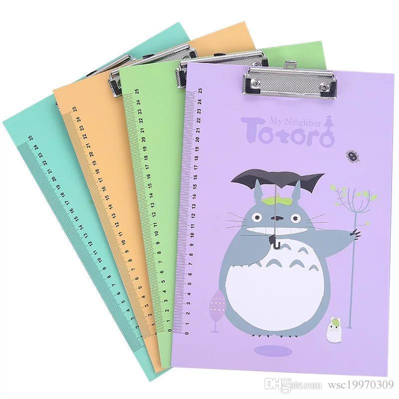 Cute Cartoon-A4 Platte Ordner Ordner klein frisches Schreibpapier Informationen Buch Student Bürobedarf Polsterplatte spli