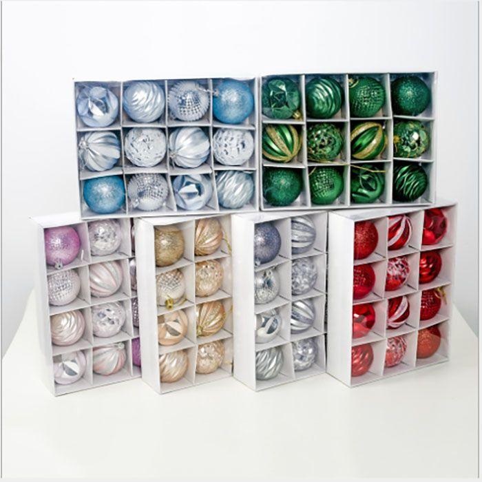 شفافة البلاستيك الكرة مجموعة شجرة عيد الميلاد الديكور الكرة الدائري جوفاء الكرة الغذاء الحلوى مربع حماية البيئة الزفاف الديكور هدية