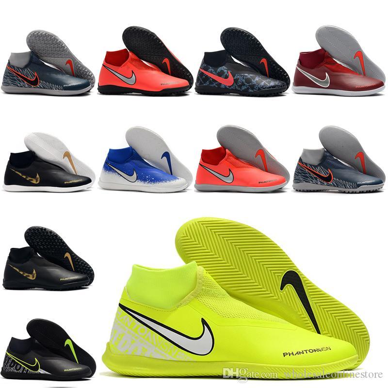 2019 scarpe da calcio da uomo di alta qualità Phantom Vison Academy DF TF IC scarpe da calcio indoor scarpe da calcio alla caviglia scarpe calcio 04