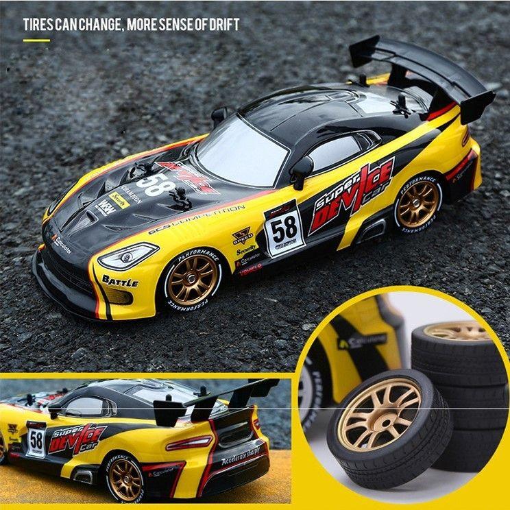 نموذج سباق الانجراف RC سيارة GTR 4WD 2.4G الطرق الوعرة Rockster التحكم عن بعد السيارة الإلكتروني هواية لعب T200115