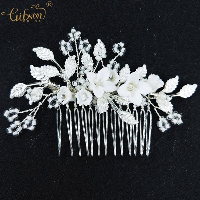 Acessórios de noiva de prata pente de cabelo e Bobby Pin Set casamento Headpiece claro frisado moda cabelo garfos