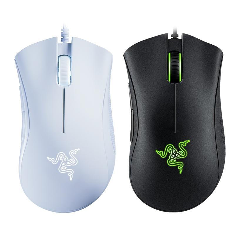Originl Razer DeathAder Essential Wired Gaming Mouse Mouse 6400 dpi sensore ottico 5 in modo indipendente Pulsanti per il computer portatile del PC Gamer