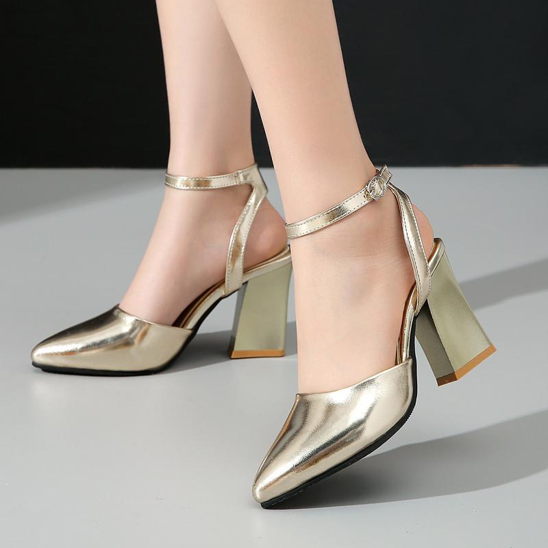 LVABC 2020 Женские сандалии на высоком каблуке 2020 Новая летняя мода пряжка женские гладиаторские сандалии обувь женщина золотой размер 33-43