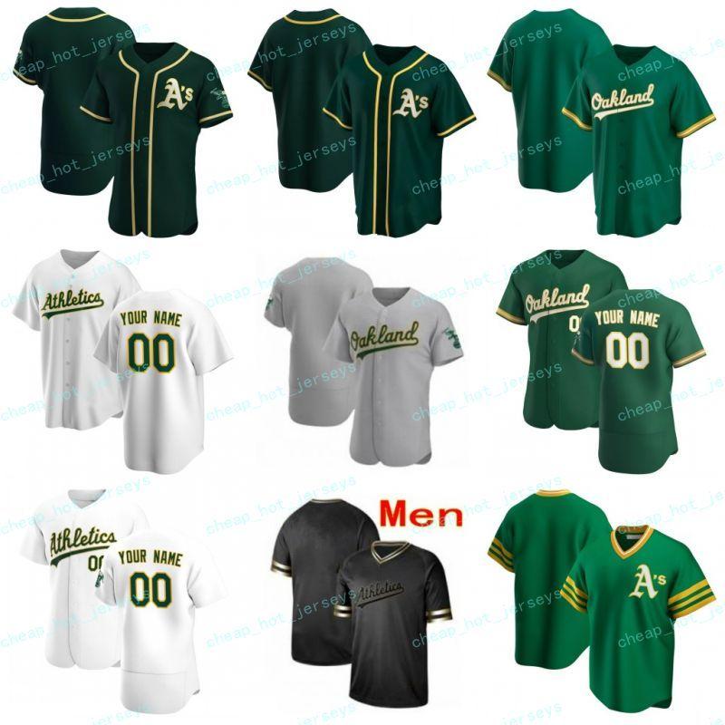 Personalizado 2020 Novo Baseball Rickey 35 Henderson Reggie 9 Jackson Matt 26 Chapman Khris 2 Davis Mark 25 McGwire Jerseys Homens Juventude