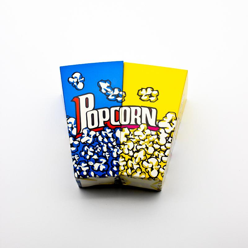 50PCS Popcorn Box Party Favors Kids Birthday Paper Popcorn Boxes Wedding Yellow Box Blue Cup Children Bags Supplier