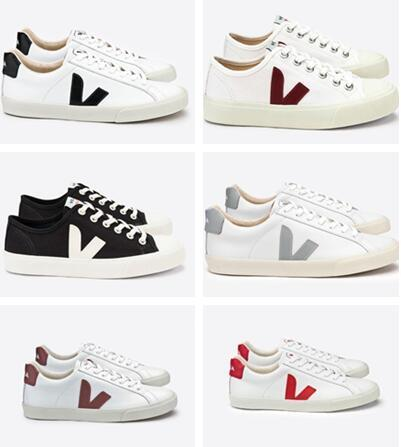2019 Wholesale TOP Fashion VEJA ESPLAR Sneakers Genuine Leather Villous Dermis Casual Shoes Mens&Women Luxury Superstar Trainer 36 45 Red Shoes