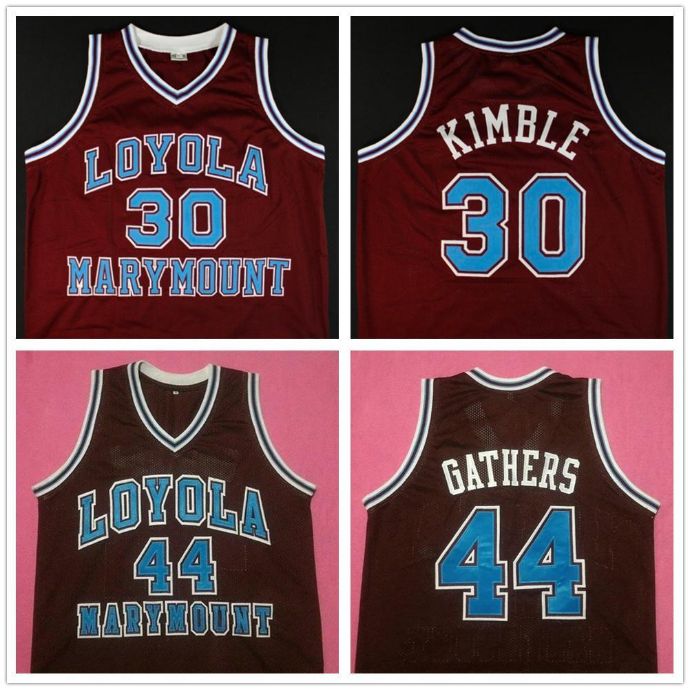 LMU Loyola Marymount Lions University 30 Bo Kimble 44 Hank Gather Gather Retro Basketball Jersey Numéro de Numéros personnalisé pour homme Jerseys