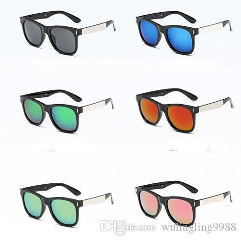 nouvelle marque hommes d'été Lunettes de soleil plage VERRES GLASS vélo femmes lunettes de conduite en verre vélo Lunettes de soleil 8 couleurs prix pas cher livraison gratuite