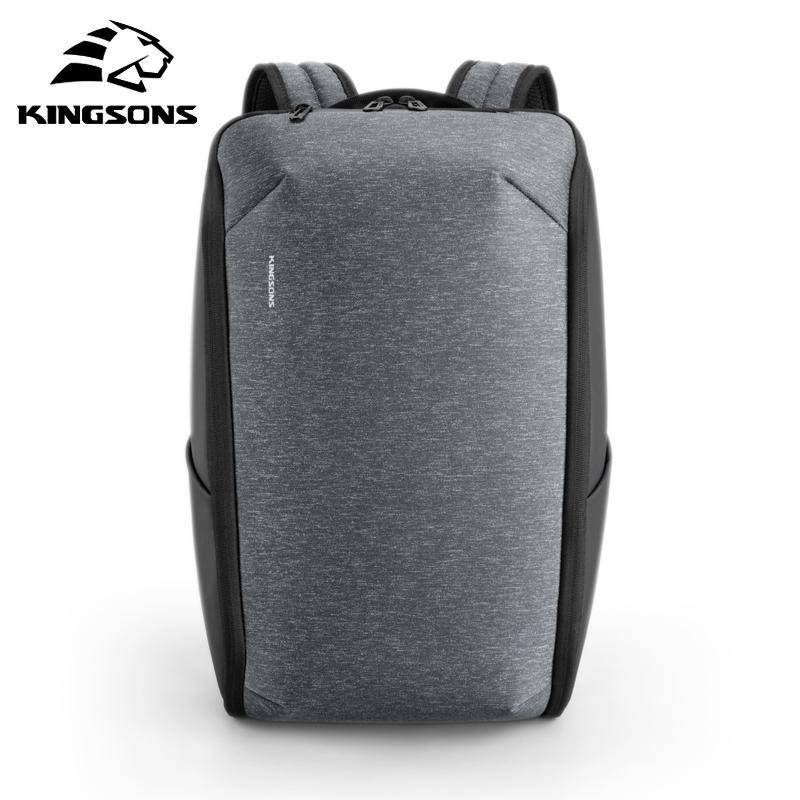 Kingsons Многофункциональные Мужчины 15 дюймовый ноутбук рюкзак Мода водонепроницаемый путешествия рюкзак Анти-вор мужчины Mochila школьные сумки горячей T200602