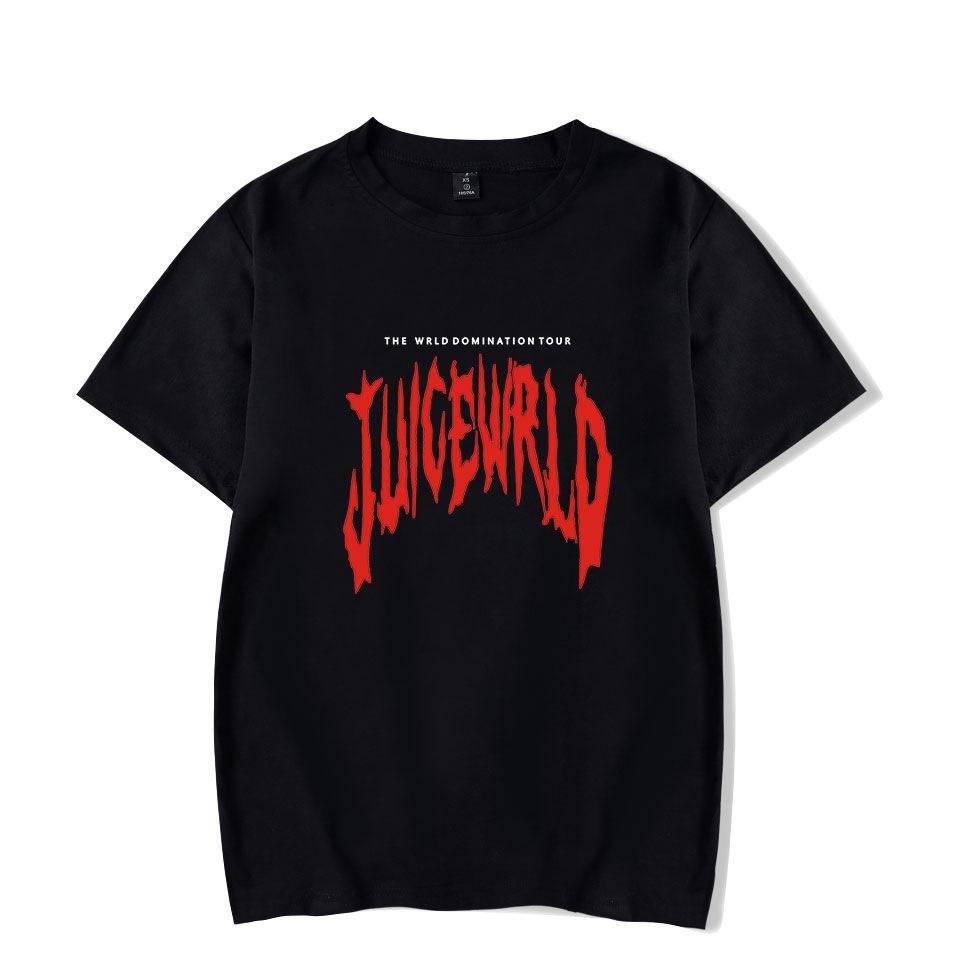 Streetwear Hip Hop JUICE WRLD Camiseta Harajuku O-Neck mangas curtas das mulheres dos homens T-shirt ocasional do moderno gráfico fresco camiseta