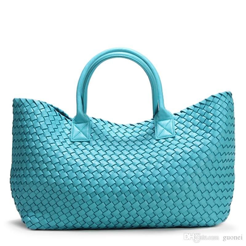 Designer-2019 Ombro Brand Design Woven Bolsas Para Mulheres Bales Moda Tide Weave mão da senhora de grande capacidade bolsa Shopping Basket Bag