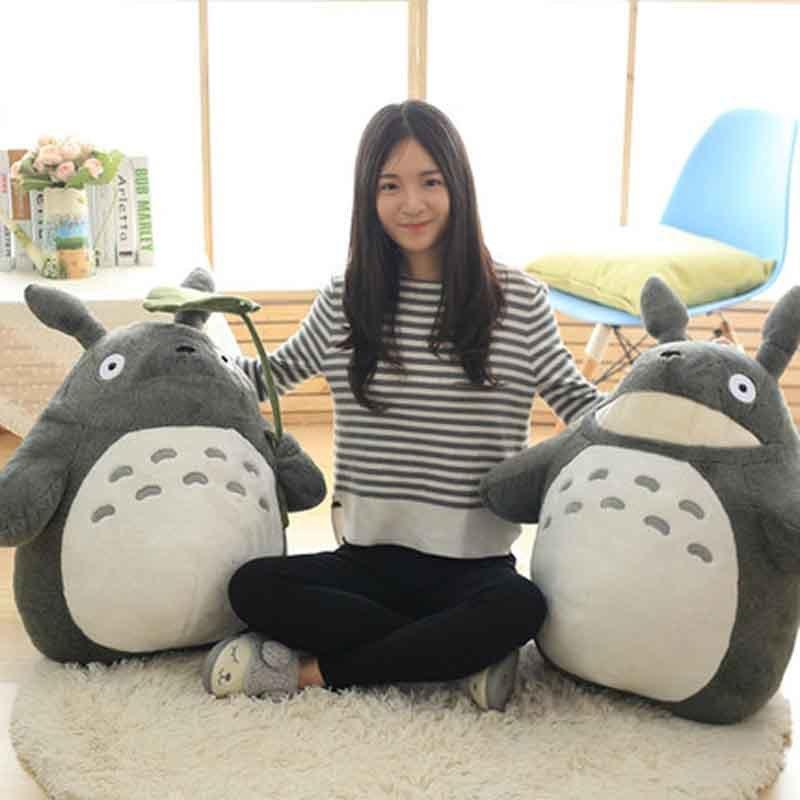 27-55cm bonito imprensa de aniversário de casamento da boneca da menina das crianças Crianças Brinquedos Totoro boneca travesseiro grande tamanho Totoro boneca de pelúcia brinquedo Y200111