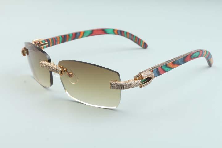 2020 novos óculos de sol completos personalidade de diamante t3524012-22 luxo infinito óculos de sol natural perna arma de diamante arma