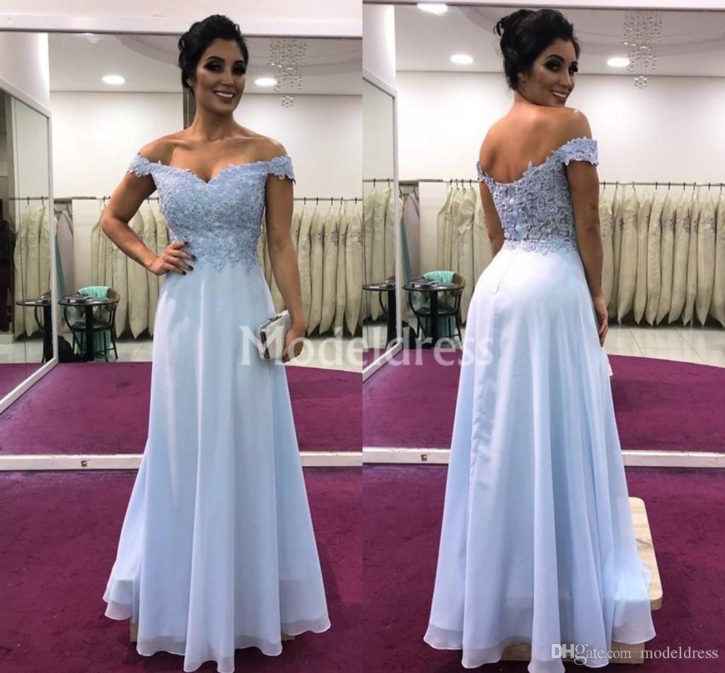 Lace Mermaid Long Evening Dresses Off Shoulder Chiffon Floor Length Backless Formal Prom Party Gown Elegant Loose Stylish Vestidos De Fiesta
