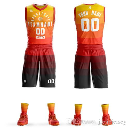 Sports men with quality material basketball uniform adult jersey set team shirts customized wear