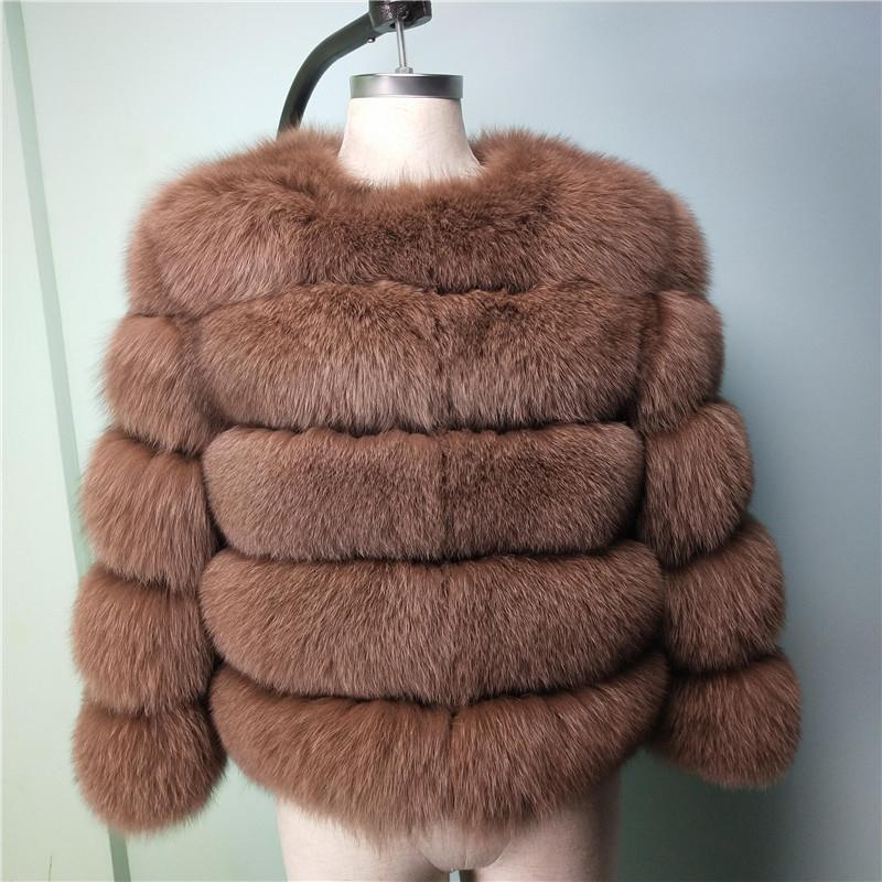 Kadın tilki kürk sıcak doğal deri tilki deri ceket bayanlar kış moda kısa ceket lüks kalın ceket kadın jack Y191206