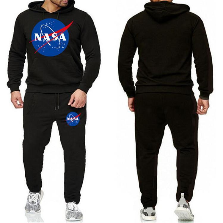 Diseñador envío de la manera ocasional de la NASA chándal otoño del resorte unisex marca de ropa deportiva para hombre de los trajes de pista sudaderas Ropa para Hombres Y-4