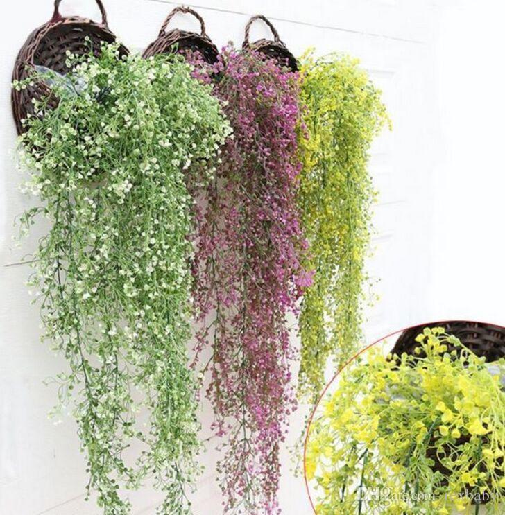 أحدث حار الأزياء البلاستيك الاصطناعي نباتات اللبلاب ليف جارلاند فاين أوراق الشجر الزهور ديكور المنزل
