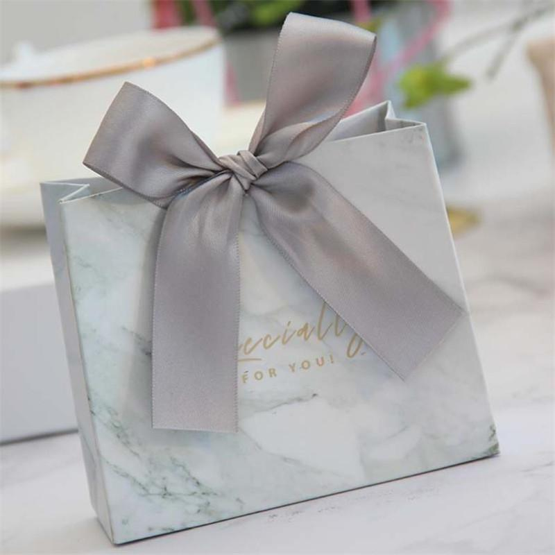 Creativo europeo de mármol gris Líneas de caramelo bolsa de la caja para Party Supplies Tabla Decoración del partido / Evento / favores de la boda cajas de regalo