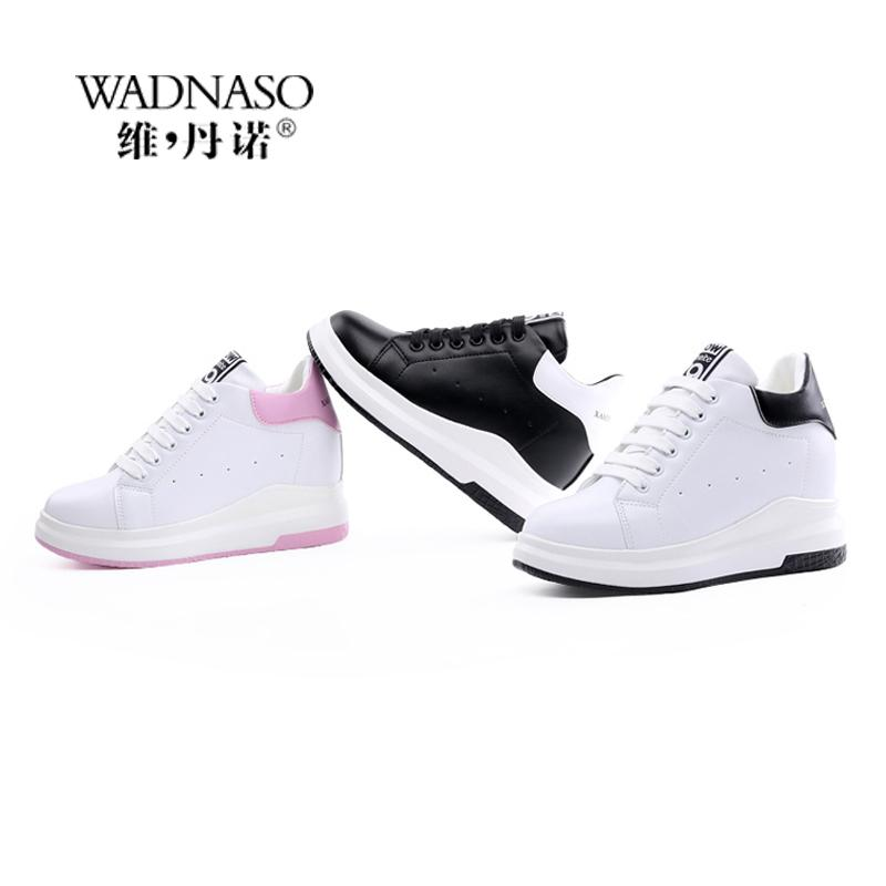 WADNASO Taille accrue Casual Femme Wedge plateforme Chaussures lacées Respirant Masquer Talons Chaussures Femme Femme XZ108 MX200425