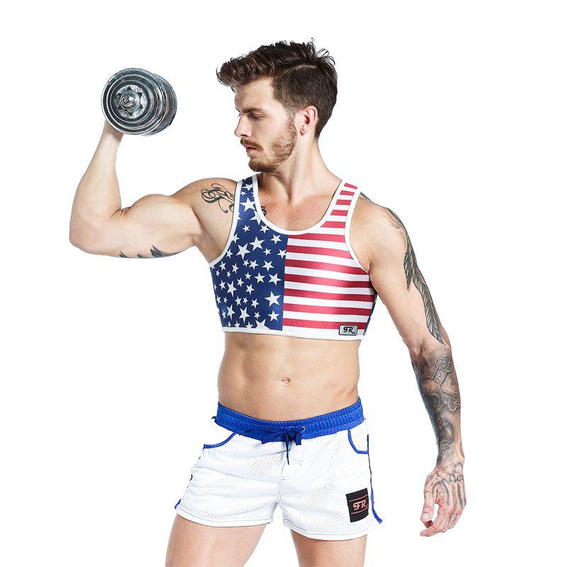 Sport Tank Fitness Essential Hommes Tops néoprène Plastron Gym Gilet et Short Basketball Football Training Top Haltère