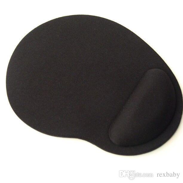 أسود / أزرق اللون لوحة الماوس مع بقية المعصم دعم نوعية جيدة الشحن المجاني المواد إيفا