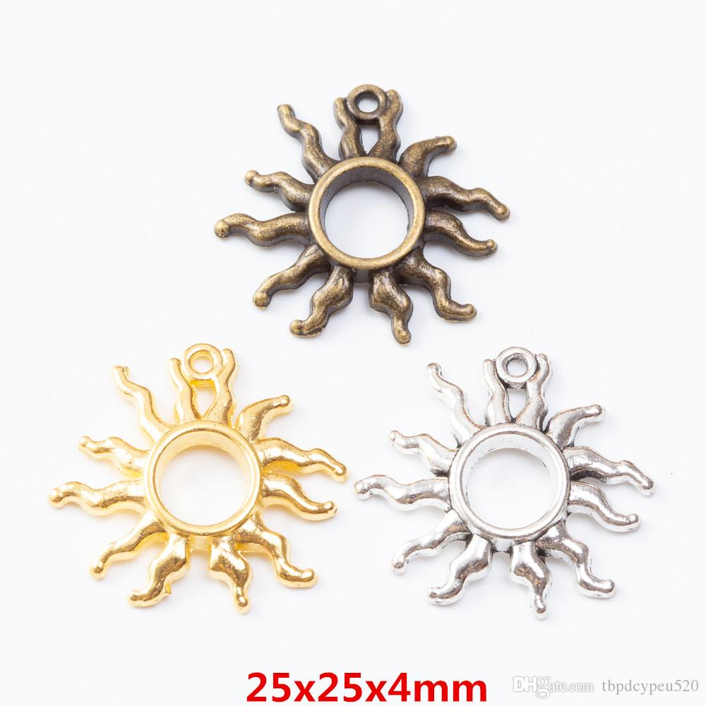الجملة خمر سحر سبائك الزنك معدن الشمس قلادة لنتائج مجوهرات ديي 7242