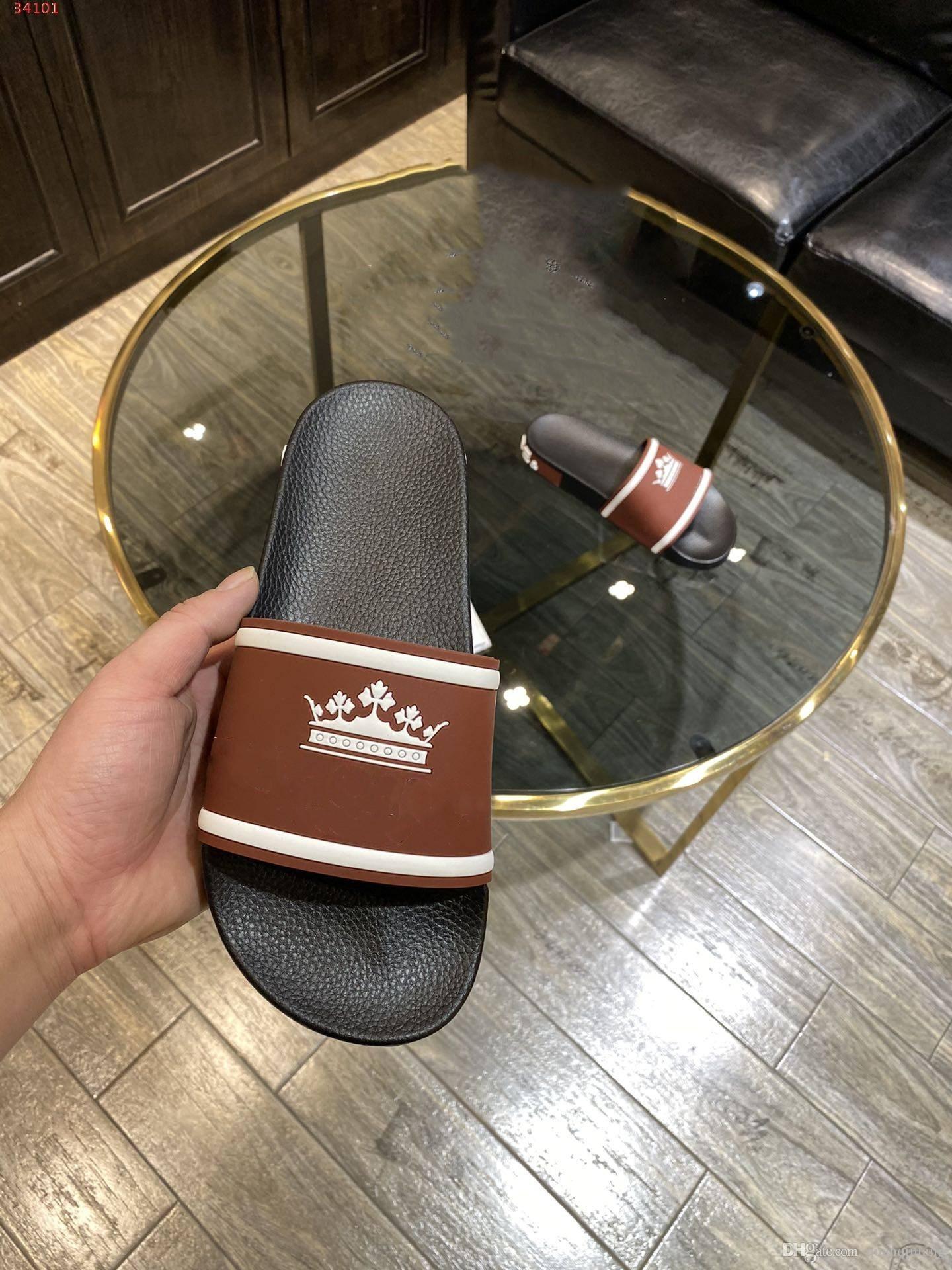 kutu sıcak Men With ışık Plaj Slayt iki renkli PVC kauçuk taban terlik tasarımcısı slip-on genişliğinde rahat havuz kayış Sandaletler markalı