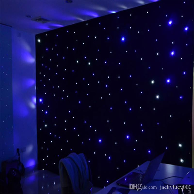 Hot Sale LED Star Curtain Fireproof Cloth Set For Nightclub Stage Wedding Backdrops Centerpieces Supplies Size Customization