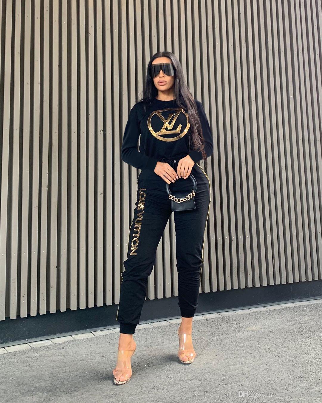 femmes nouvelles de mode vêtements de sport occasionnels pollover veste zippée et un pantalon deux tenues de pièce fixe dessus de Survêtements