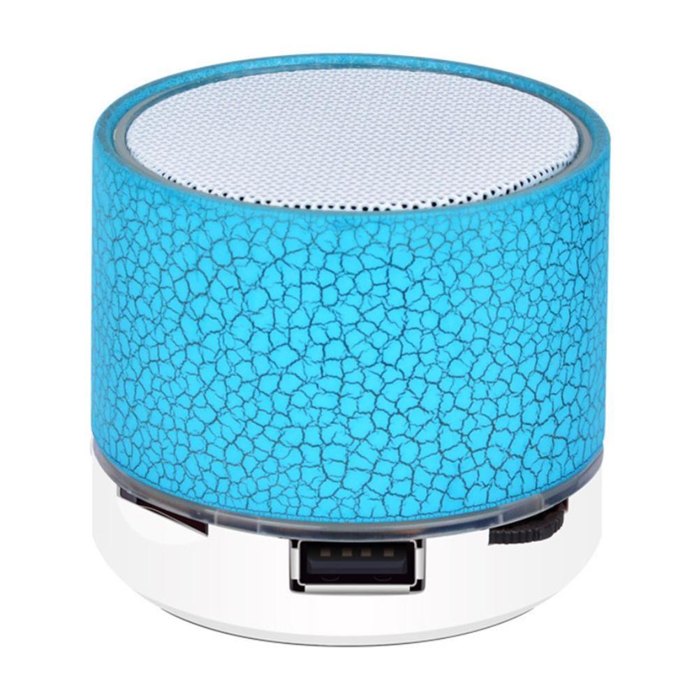 Bluetooth Wireless Speaker buntes Licht Small Crack Ton Mini Subwoofer-Lautsprecher-Audio Musik-Player-Unterstützungs-TF-Karte U Disk AUX