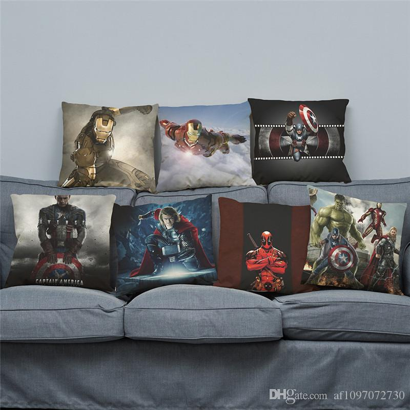 New Avengers League Series Pillow Covers 17 Styles Promotional Advertising Gifts Can Be Printed Logo Free Customized Any Patterns