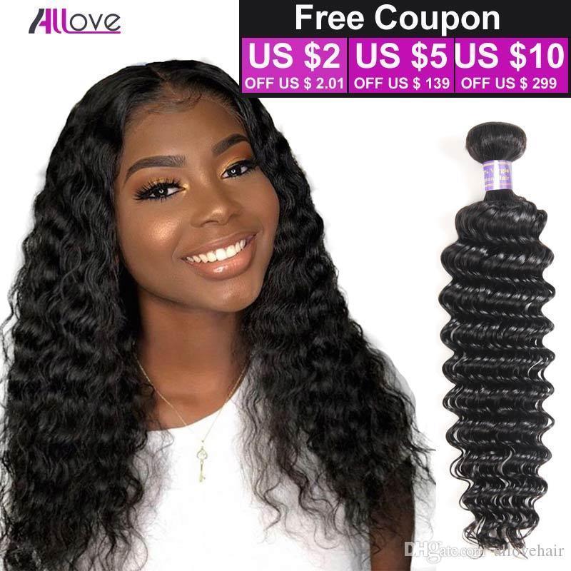 브라질 깊은 웨이브 처녀 머리 브라질 머리 번들 3PCS 많은 100 % 곱슬 공장 판매 8A 저렴한 페루 헤어 위브 온라인