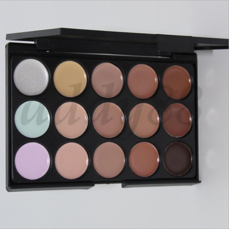 En stock! 15Colors Correcteur Soins du visage Maquillage Nautral nake Glitter Palette Set
