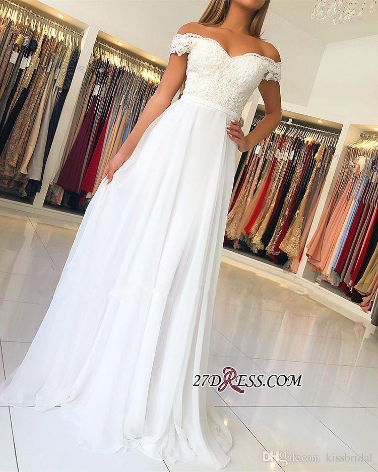 Weißes abendkleid lang mit spitze chiffon