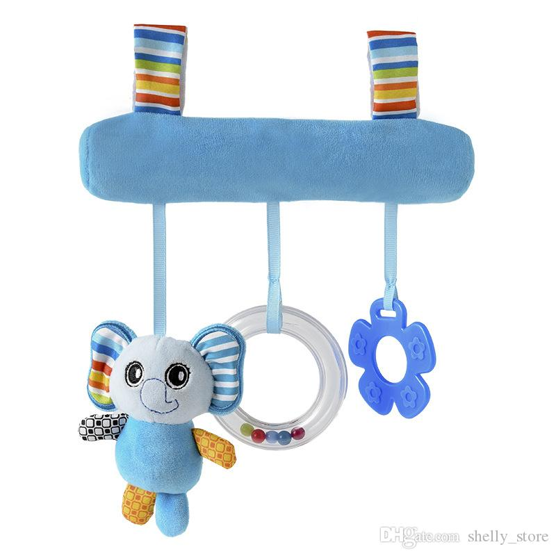 Baby Cute Animal Stroller Decoration Pendant Baby Bed Hanging Bell Comforting Toy Infant Stuffed Plush Toy