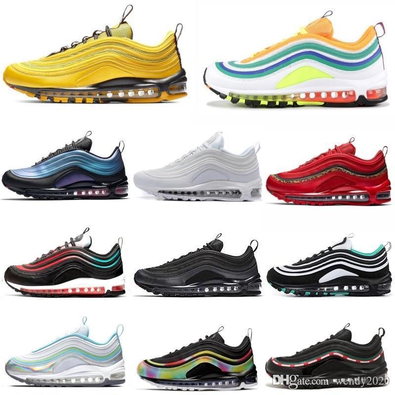 ayakkabı tasarımcısı Erkekler kadınları çalıştıran 2020 erkek rahat hava Sunburst Siyah Beyaz Parlak Citron Altın Gümüş mermi eğitmenler spor ayakkabı 36-45