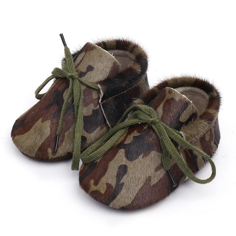 아기 첫번째 워커 아기 신발 정품 가죽 말 머리 소프트 유일한 미끄럼 방지 아기 여자 신발 유아 Prewalkers0-24M