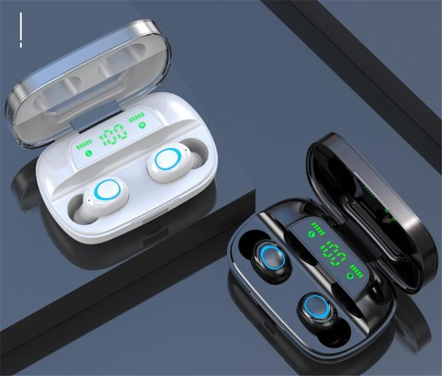 Sans fil Bluetooth 5.0 J70 TWS écouteurs HiFi affichage LED Sport étanche Oreillettes Touch Control antibruit Casques d'écoute Bluetooth # OU699